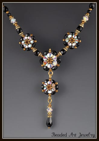 These small flowers are elegant components in this necklace.