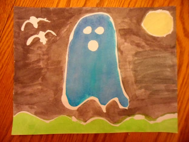 A spooky ghost scene to celebrate the upcoming Halloween holiday.