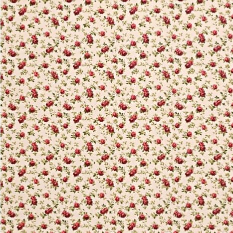 This ditsy all over print is easier to match than a formal pattern. (These fabrics are available from John Lewis in UK.)