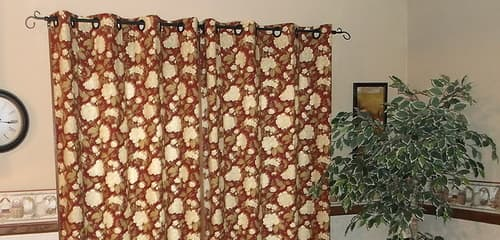 This is a photo of my patio curtain with grommets, closed.