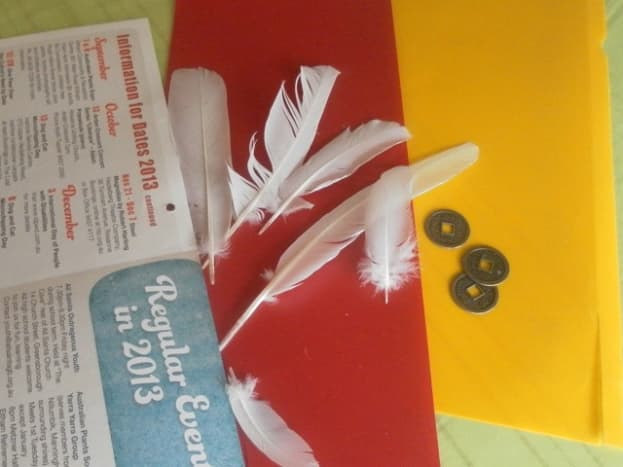 Materials for making shuttlecock toy.