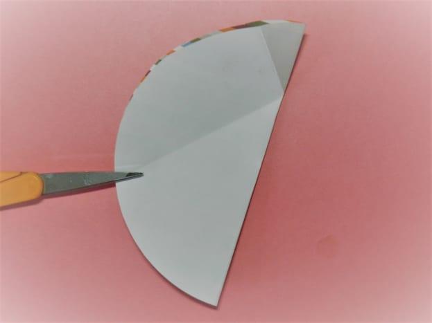 Fold a circle in half