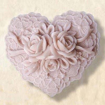 Lovely heart shaped soap mold
