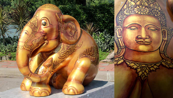 'Dheva Tong' by Watchira Srichan—Devas (Dhevas) are demi-God figures in Hindu and Buddhist iconography