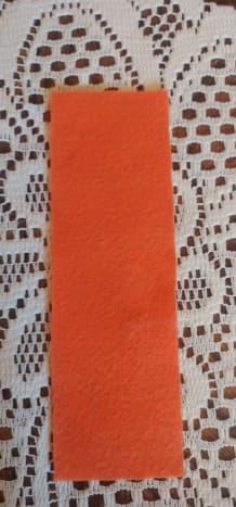 Cut piece of felt for bookmark.