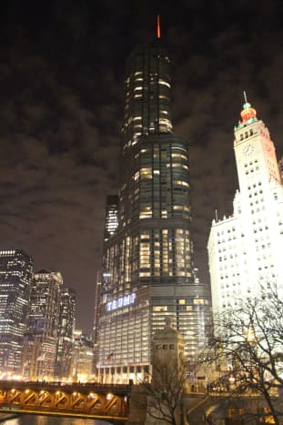 Trump Tower, picture taken in December 2015. Along with a few of the other buildings above.