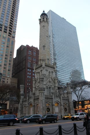 The Chicago Water Tower. Picture taken in November 2016. Well I originally got a pic in December 2015 but it was WAY too dark.