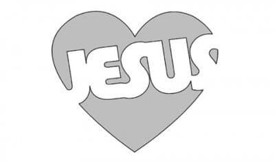 Name of Jesus stencil.