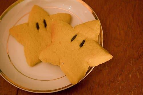Simple star-shaped cookies.