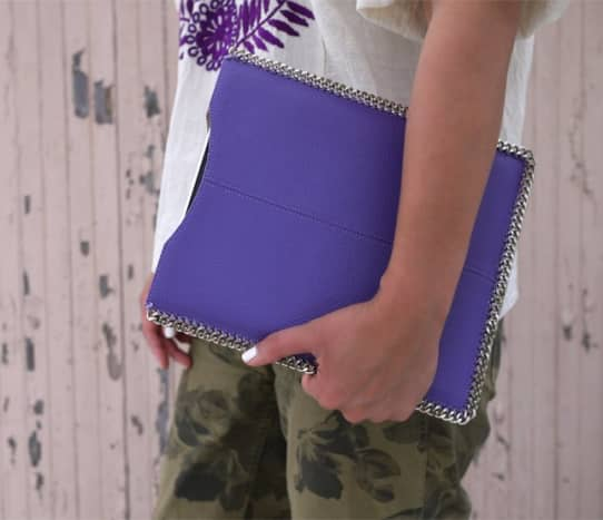 Homemade tablet case inspired by Stella McCartney's Falabella bag.