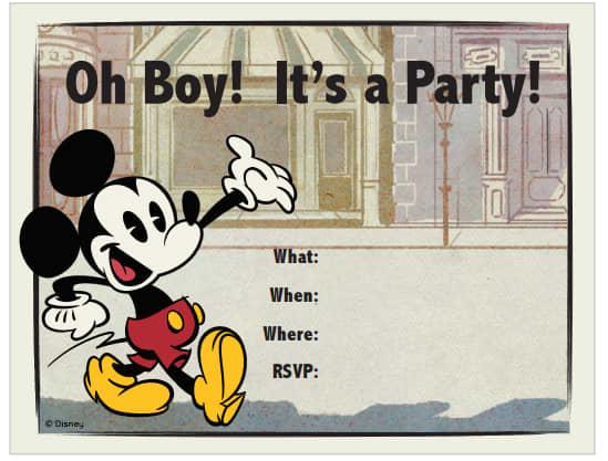 Free Mickey Printable Invite