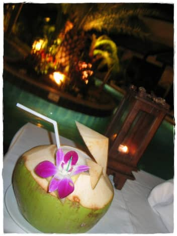 Serve the drinks in coconuts!