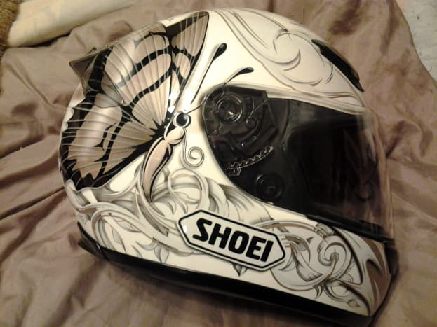 Helmets are perfect as flower girl baskets, table centerpieces, or at the altar, and a plain one with a paint pen will be a fun guestbook.