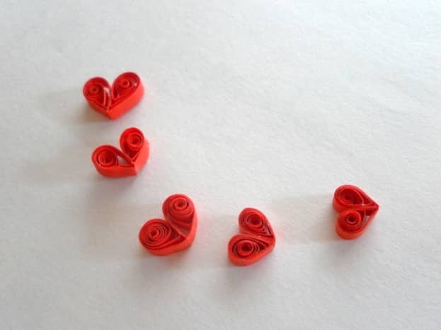 Quilled hearts.