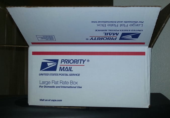 I like to use a flat-rate box from the post office so I don't have to worry about the weight.