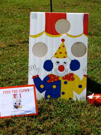 Feed the Clown Bean Bag Toss