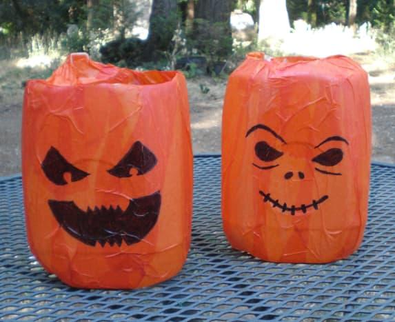 Finished Jack-O-Lantern Faces