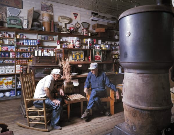 In the 1800s and 1900s, people sat around a barrel of crackers in the General Store, talking, even on Christmas Eve.