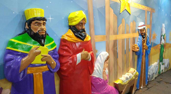 Birth of Christ display.