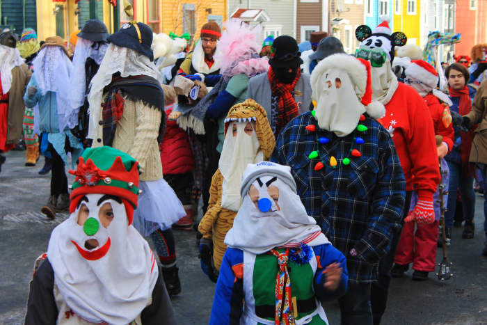 The mummers parade in downtown St. John's, NL