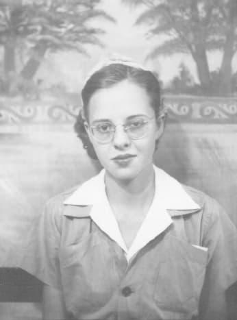 Gail Lee McGhee worked at Boeing in Wichita during the war years. This was her work uniform.