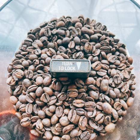 Fresh coffee beans have a glossy appearance and an oily feel.