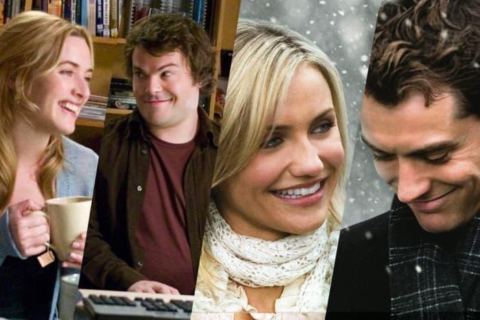 Kate Winslet (Iris), Jack Black (Miles), Cameron Diaz (Amanda) and Jude Law (Grant).