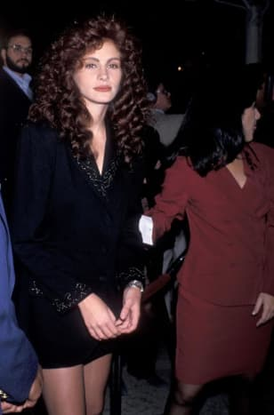 Julia Roberts at the 1989 premiere of Steel Magnolias.