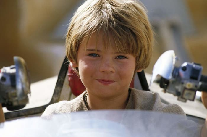 As unconvincing as a large portion of the CGI was in the prequels... Jake Lloyd was somehow even less so. Little robot kid.