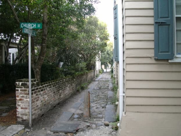 This is an old carriage path. Walking down these will give you a glimpse that usually only locals see.