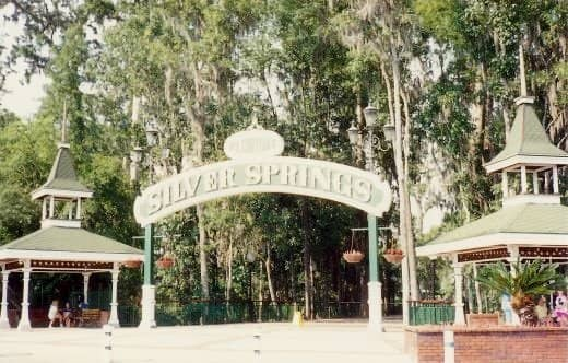 Entrance to Silver Springs in Florida