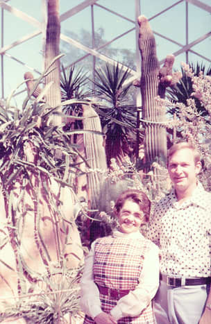 My husband and mother-in-law in the Arid Dome many years ago when we visited Mitchell Park.