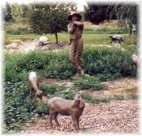 Sculptures in Benson Park