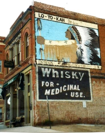 Love this photo!  Painted on side of building in Cripple Creek.