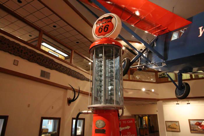 Inside the Woolaroc Museum, where the Woolaroc plane is displayed