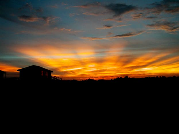 Sun set near Oregon Inlet,  Cape Hatteras National Seashore, NC Outer Banks