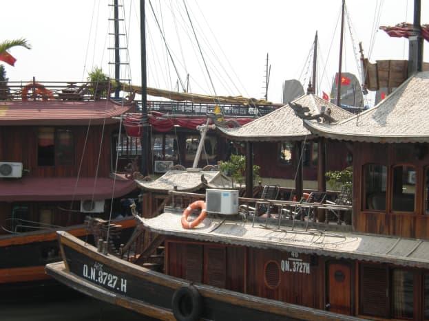 Halong City Harbor, Vietnam.