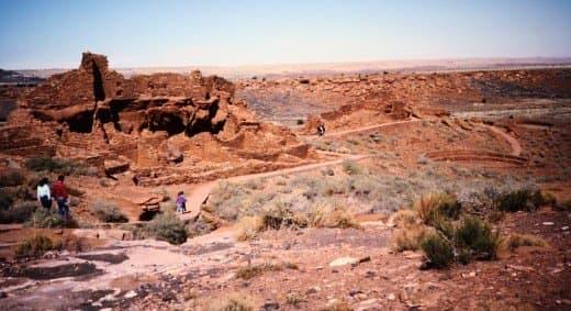 Pathways through the Wupatki National Monument