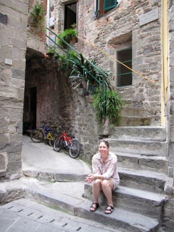 IL Girasole Apartment in Corniglia.   Paid 65 euro per night.