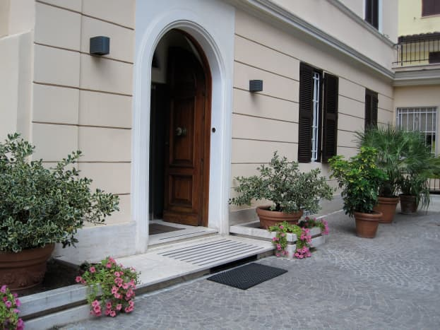 Piccole Suore della Sacra Famiglia Convent in Rome.  Immaculately clean.  Located across the street from the Vatican Museum.  Paid 60 euro per night.