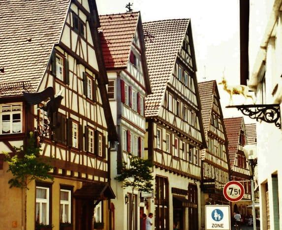 Cross-timbered houses in Herrenberg, Germany