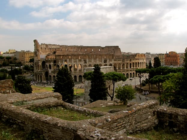 View of the Colosseum from Palatine Hill