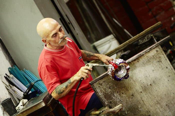 Glass maker in Murano, Venice