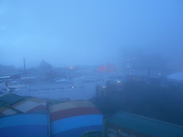 Foggy morning in Genting Highlands.