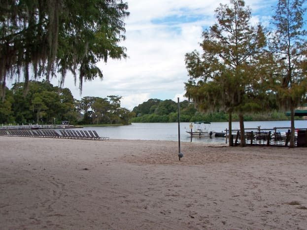 Fort Wilderness Beaches: If you get tired of the pool, Fort Wilderness is located against a blue water lagoon
