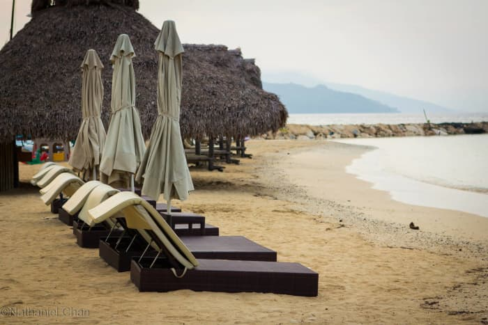 Breathe for a while, a you gaze at the lovely bay of Misibis beside the beach