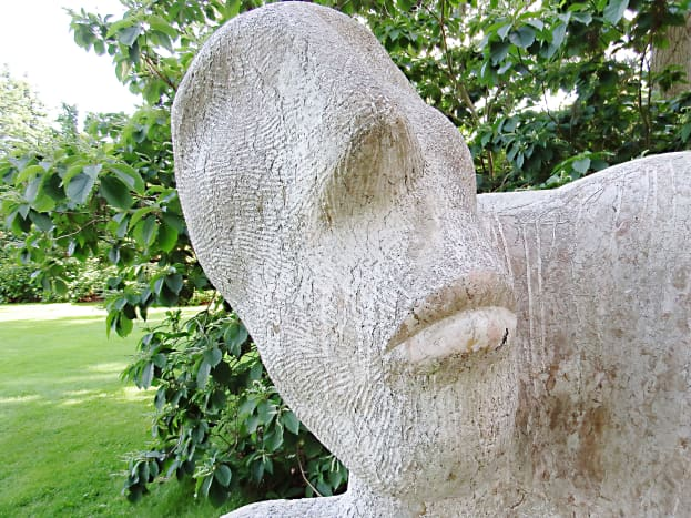 """Part of my favourite sculpture in the garden, which is entitled """"Observing Your Society""""."""