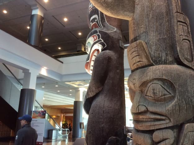 Another view of the totem poles