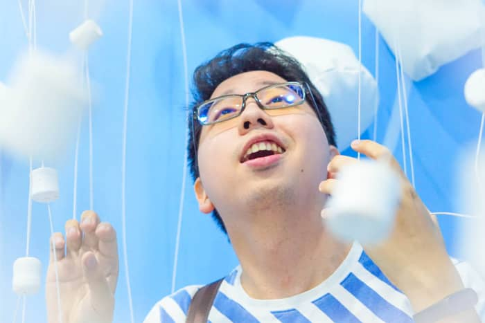 """Author experiencing the """"marshmallow rain"""""""