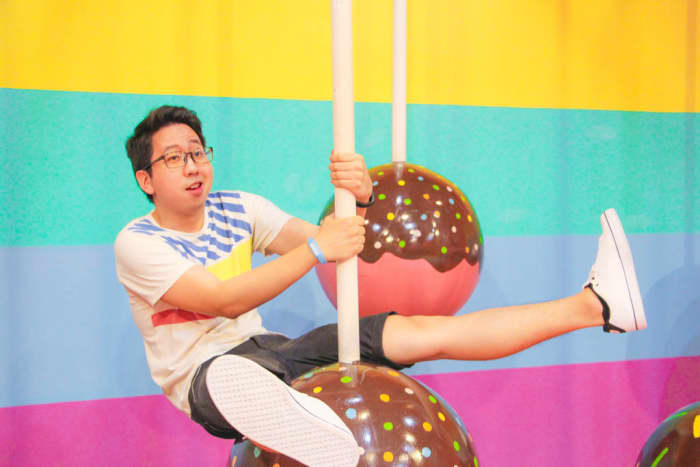 Doing it like Miley and performing the world-renowned wrecking ball